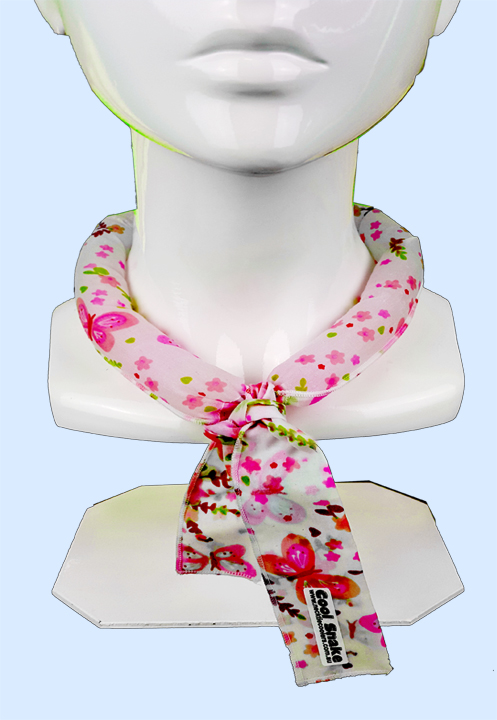 Neck Tie Cooler - Pink Butterflies