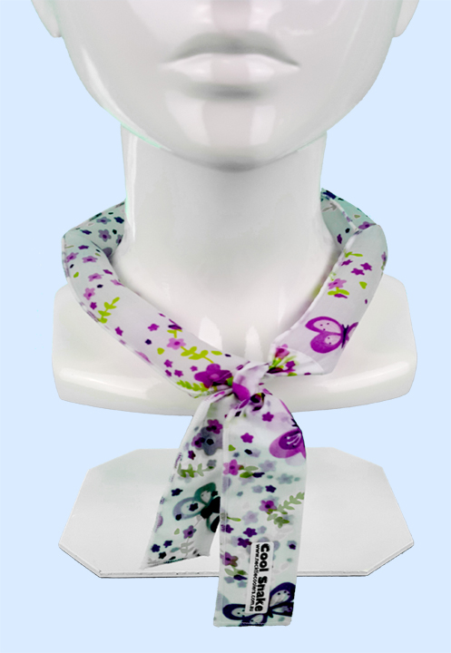 Neck Tie Cooler - Purple Butterflies