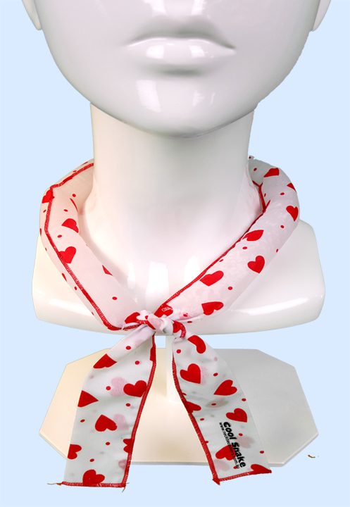 Neck Tie Cooler - Red Hearts